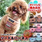 犬 猫 ハーネス リード付 ペット 服 ボヘミア  胴輪 キャット ドッグ メッシュ