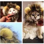 犬・猫用ライオン風ウイッグ 「ライオン の たてがみ 耳付き」