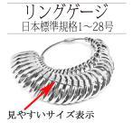 リングゲージ 日本標準規格 1号〜28号 指のサイズ計測測定 指輪サイズ 測定 指輪 ゲージ