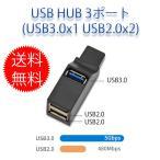 USBハブ 3ポート USB3.0+USB2.0コンボハブ バスパワー 超小型・軽量設計 (usb3.0+2usb2.0)
