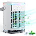 冷風機 卓上 冷風扇 クーラー 扇風機 スポットエアコン小型 760ML大容量 2種モード 4段階風量 日本語説明書付き
