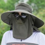 ハット メンズ レディース 帽子 大きいサイズ つば広 軽薄 日除け(アーミーグリーン(紫外線を360度カット), Free Size)