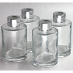 Feel Fragrance リードディフューザー用 ガラスボトル 容器 透明 4本セット () [120ML円形]