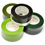 starPG フローラテープ フラワーアレンジメント 造花 ワイヤリング用 幅 12mm 長さ 27m よく使う5色 12巻 セット