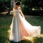 ショッピングロングドレス 新品豪華なウエディングドレスノースリーブトレーン ロングドレス花嫁結婚式ホワイトXS-3XL7サイズ選択可