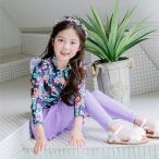 子供用水着  ラッシュガード 長袖  ロングパンツ  キャップ付き 花柄 3点セット キッズ 女の子  上下セット UPF 50+  日焼け防止  紫外線対策