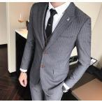 上質メンズ 正装 スーツ スリーピース セットアップ 3
