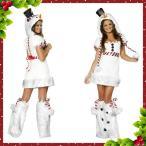 女性用サンタコスチューム サンタ コスプレ サンタ コスチューム レディース サンタコス 雪だる サンタクロース 衣装 クリスマス 仮装 コスチューム 大人w1900
