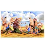 セーブル 一点物 磁器板画 海水浴図 ポール ヴェラ 手描き フランス Sevres