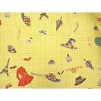 YUWA 小関鈴子先生デザインプリントコットン ファッション柄 ライムグリーン