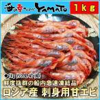 Shrimp - (エビ 海老 えび)甘海老 1kg (約50尾入) ロシア産 船上凍結 刺身用 お歳暮 贈答