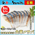 金華しめ鯖 100〜120g×6枚 シメサバ 〆さば 冷凍食品