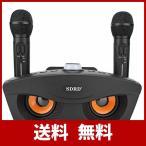 Bluetoothカラオケマイク ホームKTV ワイヤレスマイクシステム 2ハンドヘルドマイク AUX TFカード/Uディスク カラオケ歌うマシン 高