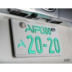 ワーコーポレーション (WHACORPORATION) AIR 超薄型字光式ナンバープレート LEDNUMBERPLATE 車検対応2枚セット