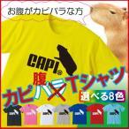 カピバラ グッズ Tシャツ キッズから大人まで(選べる8色)お腹がカピバラさんに捧ぐ、カピ腹Tシャツ!おもしろTシャツ/C3/ シャレもん