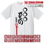 名入れ おもしろ Tシャツ (○○だもの)プレゼント 贈り物 ギフト/DMT/D13/