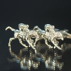 Cuff - カフス カフスボタン 結婚式 ビジネス スーツ シャツ シルバー モチーフ 高級感 ジョッキー 競走馬