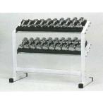 (ダンベルセット)DANNO ラック&クロームアレーセット(ダンベル1kg-10kg各1組) D-5540