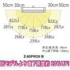 Z-LIGHT LEDデスクライト 高演色LED ブラック 上締めクランプ付き Z-80PROIIB
