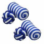 選べる14色 ガムカフス ブルー ストライプ カフスボタン・カフリンクス nsgum002-9