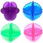 洗濯ボール 洗濯用品 洗濯機、洗濯物の絡みを防止するボール (ブルー&緑り&ピンク&パープル)