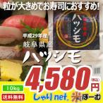 岐阜県産ハツシモ 10kg 平成29年産 送料無料(一部地域除く)