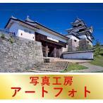 額装写真 オリジナルプリント 「小峰城」福島県/白河市 (大判サイズ:557×442mm)