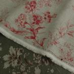 YUWA 生地 ミュルーズコレクション リネン 10cm単位 日本製 洋裁 服地 麻100% バロック調 花柄