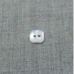 貝ボタン 高瀬 スクエア 10mm 2穴 虹色の輝き 天然貝 日本製 四角いボタン 日本製