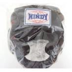 WINDY ウインディ 本革製 キックボクシング ヘッドギア ヘッドガード 黒 Lサイズ