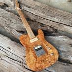 新品カスタムギターTLタイプ・ナチュラルウッド(P90ピックアップ搭載)