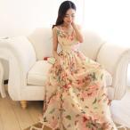 ワンピース レディース シフォンワンピース 大きいサイズ 花柄 かわいい ドレス 送料無料