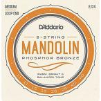 DADDARIO 0019954910662  10個 D& 039 Addario マンドリン弦 フォスファーブロンズ Medium EJ74