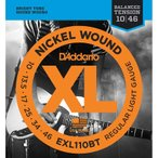 D'Addario ダダリオ エレキギター弦 EXL110BT Nickel Wound, Balanced Tension Regular Light