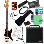 Fender (Japan Exclusive Series) Classic 60s Jazz Bass (Vintgage White) 【Ibanez IBZ10BV2エレキベース入門SET】