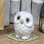 信楽焼 風水ふくろう 白色 健康運 ご利益  縁起物 フクロウ ふくろう フクロウ置物 梟やき 陶器 fu-0122