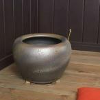信楽焼10号砂釉金彩火鉢!和風を演出する陶器火鉢です。陶器ひばち/手焙/手あぶり/信楽焼ひばち【hi-0003】『あすつく対応』