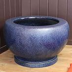 信楽焼20号特大ナマコ火鉢!和風を演出する陶器火鉢です。陶器ひばち/手焙/手あぶり/信楽焼ひばち【hi-0025】