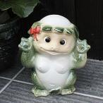 【P10倍以上】信楽焼 河童 メス ひょうきんな陶器カッパ 。可愛い表情のかっぱ ok-0033