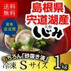 しじみ 通販 島根県・宍道湖産冷凍しじみ Sサイズ 1kg(1キロ)【S1】