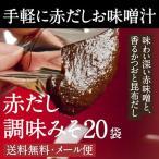 【手軽に料亭の味】赤だし調味みそ(赤味噌・赤みそ) 22g×20袋 送料無料・メール便【M-CA20】