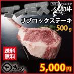 マンモスステーキ! 人舞牛 リブロック(リブロース) 500g 国産 牛肉 ステーキ