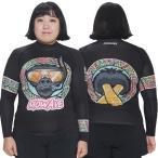 ショッピングラッシュ MOWAVE モワビ ラッシュガード ビックサイズ キングコング ブラック レディース 女性 長袖 ビーチウェア アンダーウェア UVカット UPF50+