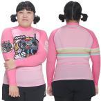 ショッピングラッシュ MOWAVE モワビ ラッシュガード ビックサイズ ラジオスター ピンク レディース 女性 長袖 ビーチウェア アンダーウェア UVカット UPF50+