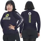ショッピングラッシュ MOWAVE モワビ ラッシュガード ビックサイズ トレビ ネイビー レディース 女性 長袖 大きいサイズ ビーチウェア アンダーウェア UVカット UPF50+