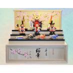 一刀彫り木彫五月人形(皐月 桜華)第53回日本民芸公募展「優秀賞」受賞 名札無料