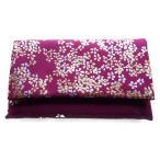 日本製 数珠入れ 数珠袋 念珠袋 メガネケース兼用 金彩シリーズ (紫)