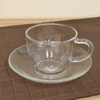 耐熱ガラス ティーカップソーサー 180ml 業務用 耐熱ガラス