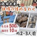広島県産 島田水産 牡蠣詰め合せ むき身500g/殻付き10個