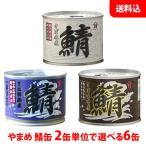 【送料無料】 やまめ 鯖缶 フレッシュパック 2缶単位で選べる6缶セット 【水煮・醤油煮・味噌煮】 高木商店